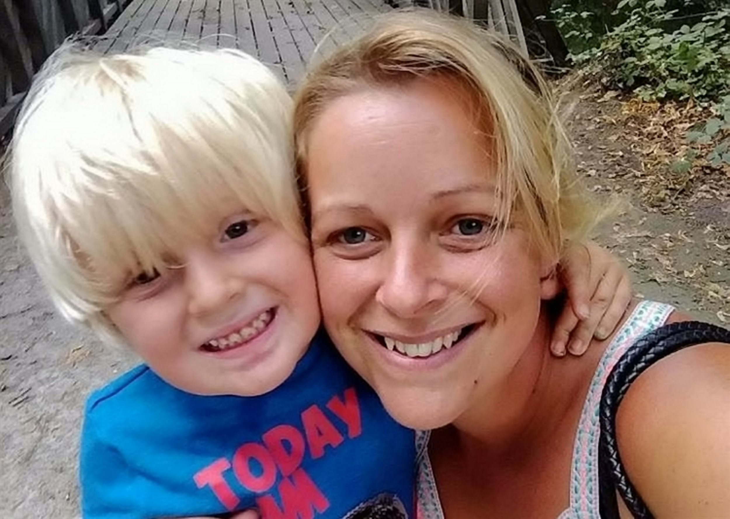 Vicky Page said a cinema-goer told her she shouldn't take her autistic son Noah on day trips (Picture: Vicky Page Facebook/SWNS)