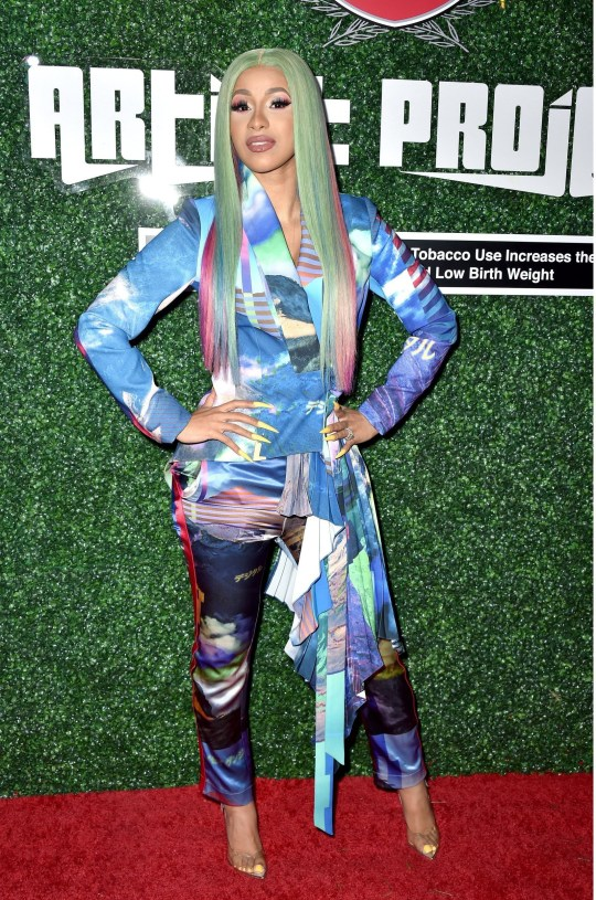 Mandatory Credit: Photo by REX (10203156am) Cardi B Swisher Sweets Spark Award, Arrivals, Los Angeles, USA - 12 Apr 2019