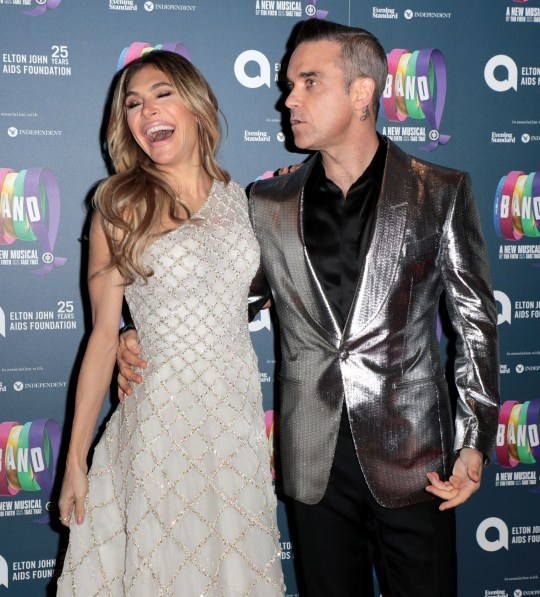 Ayda Williams and Robbie Williams