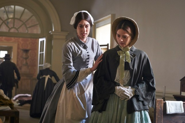 MAMMOTH SCREEN FOR ITV VICTORIA Series 3 Episode 4 Pictured: JENNA COLEMAN as Queen Victoria and LAURA MORGAN as Florence Nightingale. This photograph must not be syndicated to any other company, publication or website, or permanently archived, without the express written permission of ITV Picture Desk. Full Terms and conditions are available on www.itv.com/presscentre/itvpictures/terms Copyright: ITV,Mammoth Screen. For further information please contact: Patrick.smith@itv.com 0207 1573044
