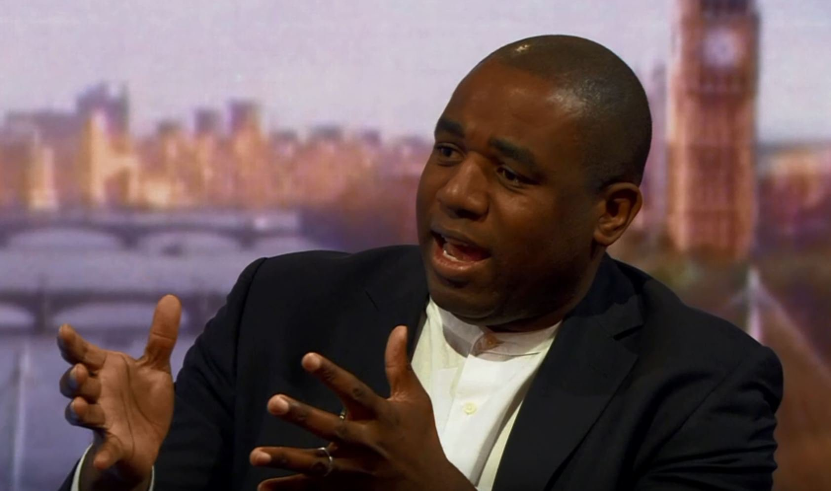 David Lammy defends likening Rees-Mogg to nazis Screengrab from BBC https://twitter.com/BBCPolitics/status/1117371973112225793