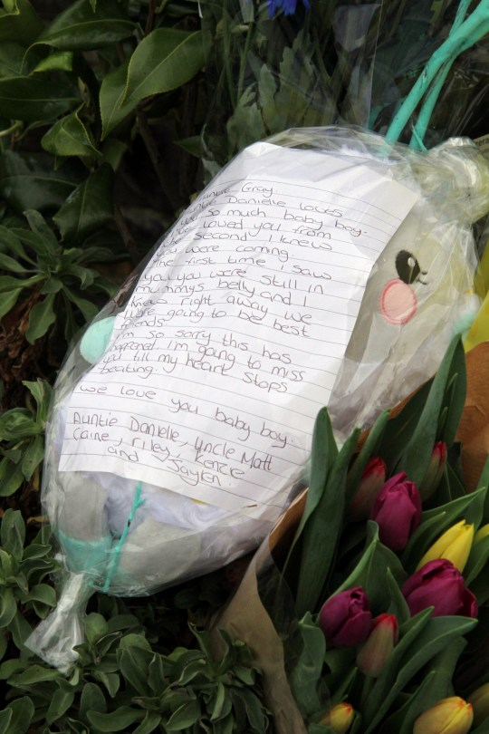 Relatives leave flowers at the entrance to Tencreek Holiday Park, Looe, Cornwall today. April 14, 2019, where Frankie Macritchie (9) was tragically killed by a large dog in the early hours of Saturday morning. See SWNS story SWPLdog. Police were called to a caravan at Tencreek Holiday Park in Looe just before 5am on Saturday (13/4) morning, following reports of a 9-year-old boy in an unresponsive state after being attacked by a dog, believed to be a bulldog-type breed. Emergency services attended but tragically the child was pronounced deceased at the scene. The boy?s next of kin are aware and are being supported by police officers. Following this incident, searches were undertaken to locate the dog and its owner. Police arrested a 28-year-old woman near Plymouth just after 8am on the same morning in connection to this matter. The dog was also located which has since been transferred to kennels.