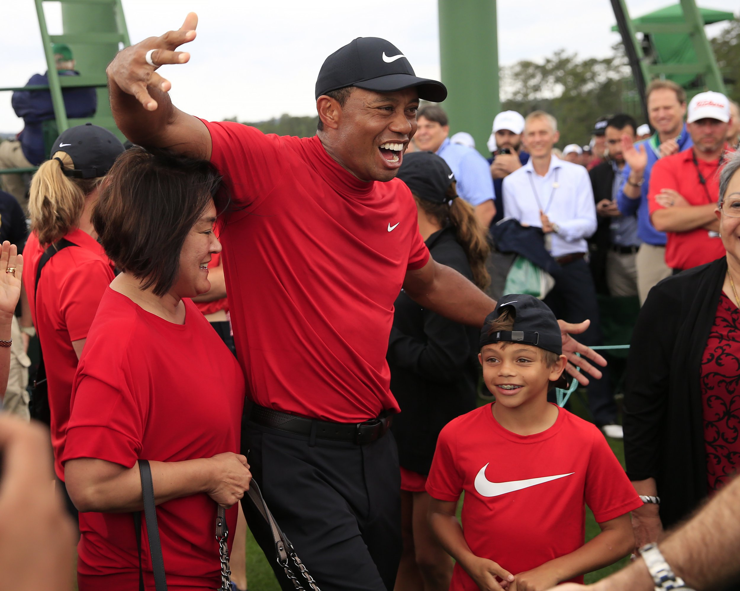 the masters  tiger woods ranks latest win and reacts to