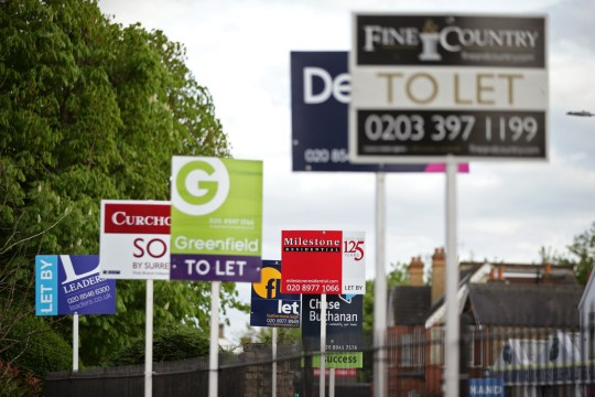 File photo dated 15/04/17 of letting agent signs. The Government has said private landlords will no longer be able to evict tenants at short notice and without good reason under a major shake-up of the rental sector. PRESS ASSOCIATION Photo. Issue date: Monday April 15, 2019. See PA story POLITICS Housing. Photo credit should read: Yui Mok/PA Wire