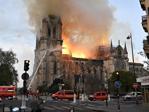 Maisie Williams and Idris Elba lead tributes as fire rips through Notre-Dame cathedral in Paris