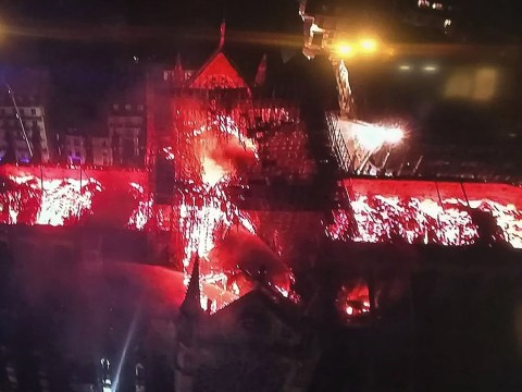 Pictures of Notre Dame this morning as fire is brought under control