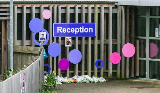"Tributes have been let outside of the Riverside Community School in Plymouth, Devon, following the death of Frankie Macritchie. April 16 2019. See SWNS story SWPLshrine. A primary school has opened during the Easter holidays to be turned into a shrine to honour a nine-year-old boy killed in a dog attack.Tributes have been flooding in for Frankie Macritchie after he was killed by a ""bulldog-type"" breed while alone in a caravan.The school he attended has opened up especially during the Easter Holidays for his classmates to lay flowers and write in a special condolence book.Specialist staff and psychologists are also helping fellow pupils come to terms with the tragedy."