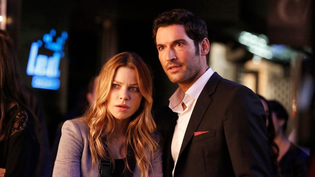 LUCIFER: L-R: Lauren German and Tom Ellis in the ???Lucifer, Stay. Good Devil??? episode of LUCIFER airing Monday, Feb. 1 (9:00-10:00 PM ET/PT) on FOX. ??2016 Fox Broadcasting Co. CR: Bettina Strauss/FOX