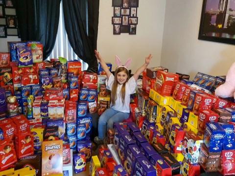 Little girl donates over 1,000 Easter eggs to sick children