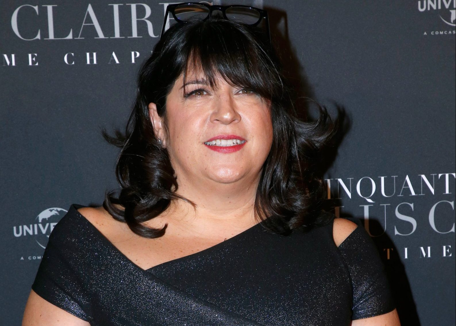 """PARIS, FRANCE - FEBRUARY 06: Writer E.L. James attends the """"Fifty Shades Freed - 50 Nuances Plus Clair"""" Paris Premiere at Salle Pleyel on February 6, 2018 in Paris, France. (Photo by Bertrand Rindoff Petroff/Getty Images)"""