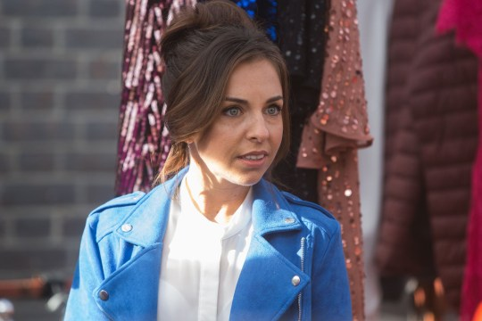 Ruby Allen (Louisa Lytton) tries to put Lola Pearce (Danielle Harold) in her place
