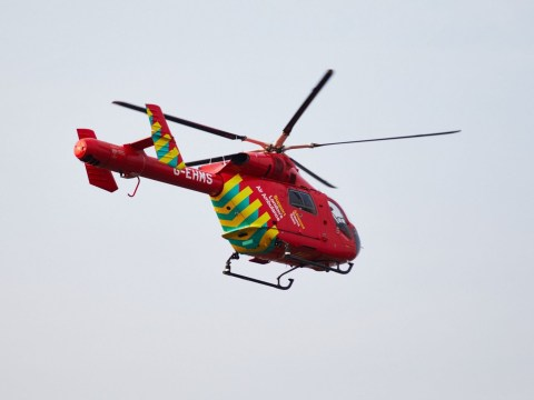 Man airlifted to hospital after being found with multiple stab wounds