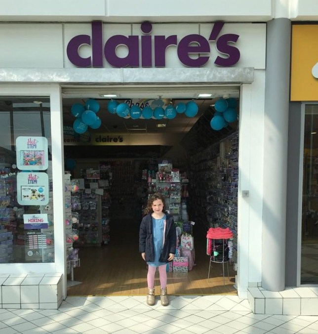 Jasmine Lovell had her ears pierced at Claire's Accessories