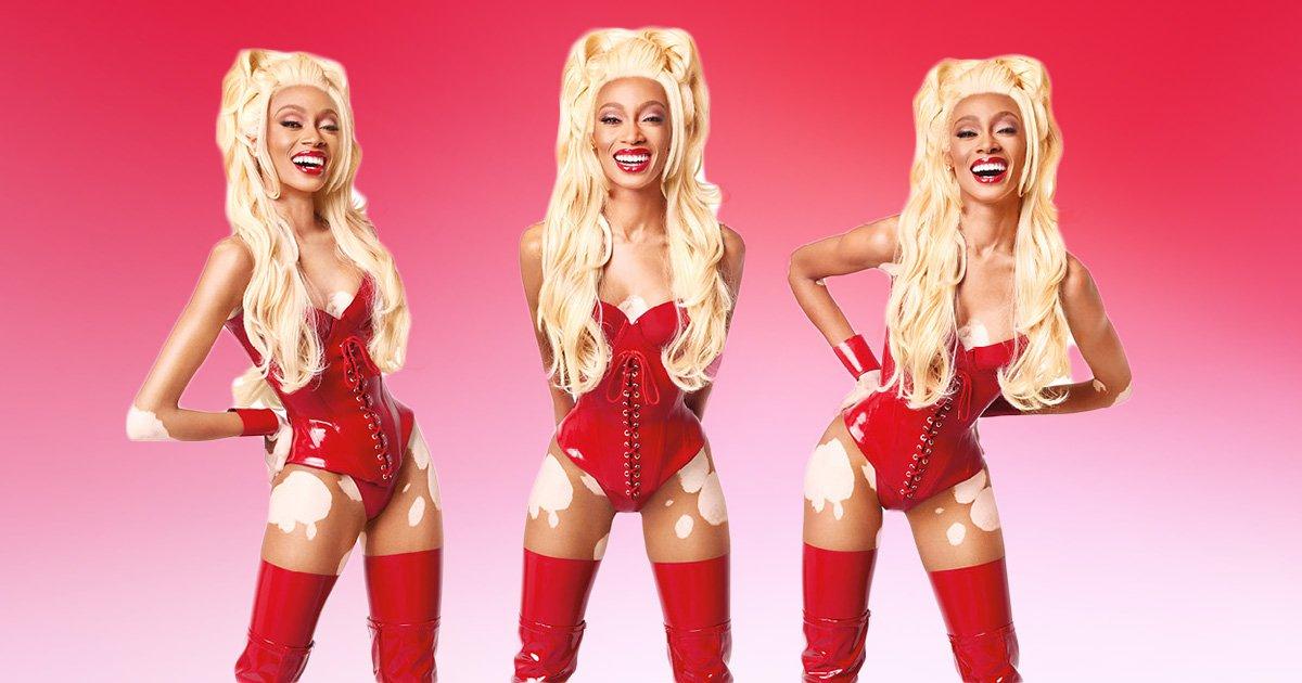 Winnie Harlow channels RuPaul in MAC's Viva Glam 25th anniversary campaign
