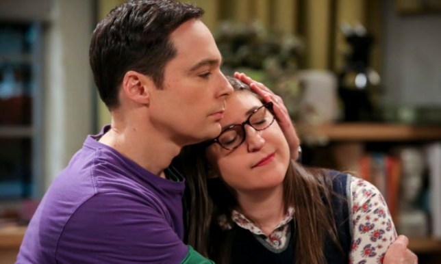 Amy and Sheldon swing Sweet Kitty in The Big Bang Theory