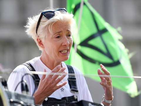 Emma Thompson says we should fly less after flying 5,000 miles to join climate protest