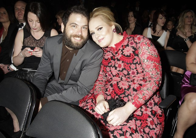 Adele and Simon Konecki are seen in the audience at the 55th Annual Grammy Awards on February 10, 2013 in Los Angeles, California. CBS/Francis Specker /Landov