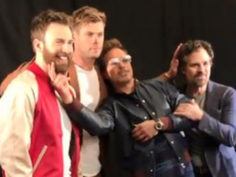 Robert Downey Jr clings to Avengers co-stars in sweet video as Marvel fans prepare to say goodbye