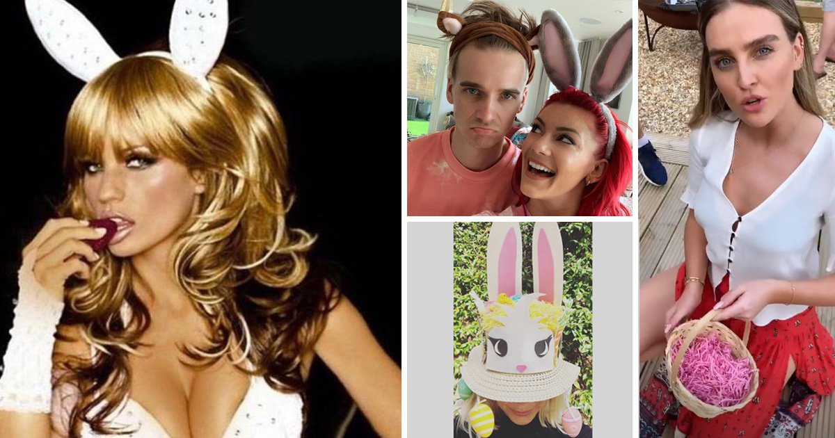 Katie Price shares bunny throwback as she joins host of celebrities enjoying the Easter break