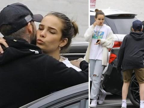 David Beckham kisses Brooklyn's girlfriend Hana Cross goodbye after family shopping trip