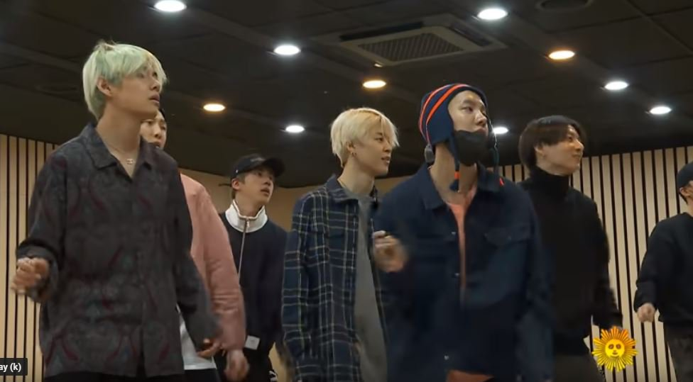 BTS reach new heights of adorable as they laugh their way through Boy With Luv dance rehearsal