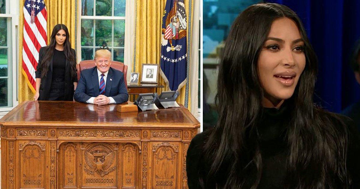 Kim Kardashian claps behind during Donald Trump criticism