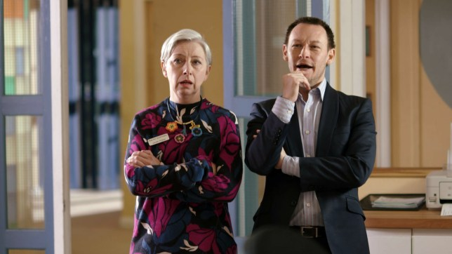 Valerie Pitman (Sarah Moyle) and Jimmi Clay (Adrian Lewis Morgan) from BBC One's TV show Doctors