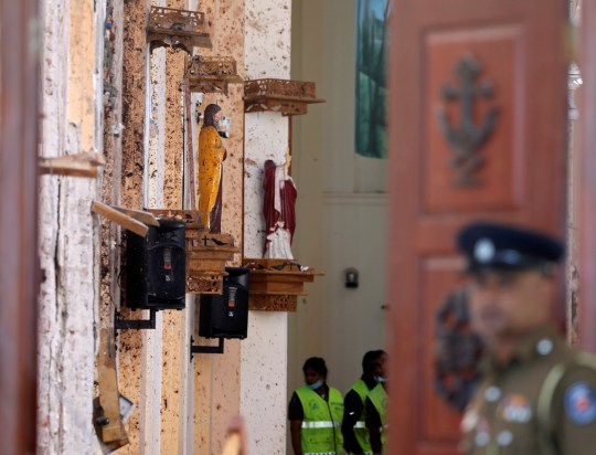 Moment Sri Lanka suicide bomber entered church with huge