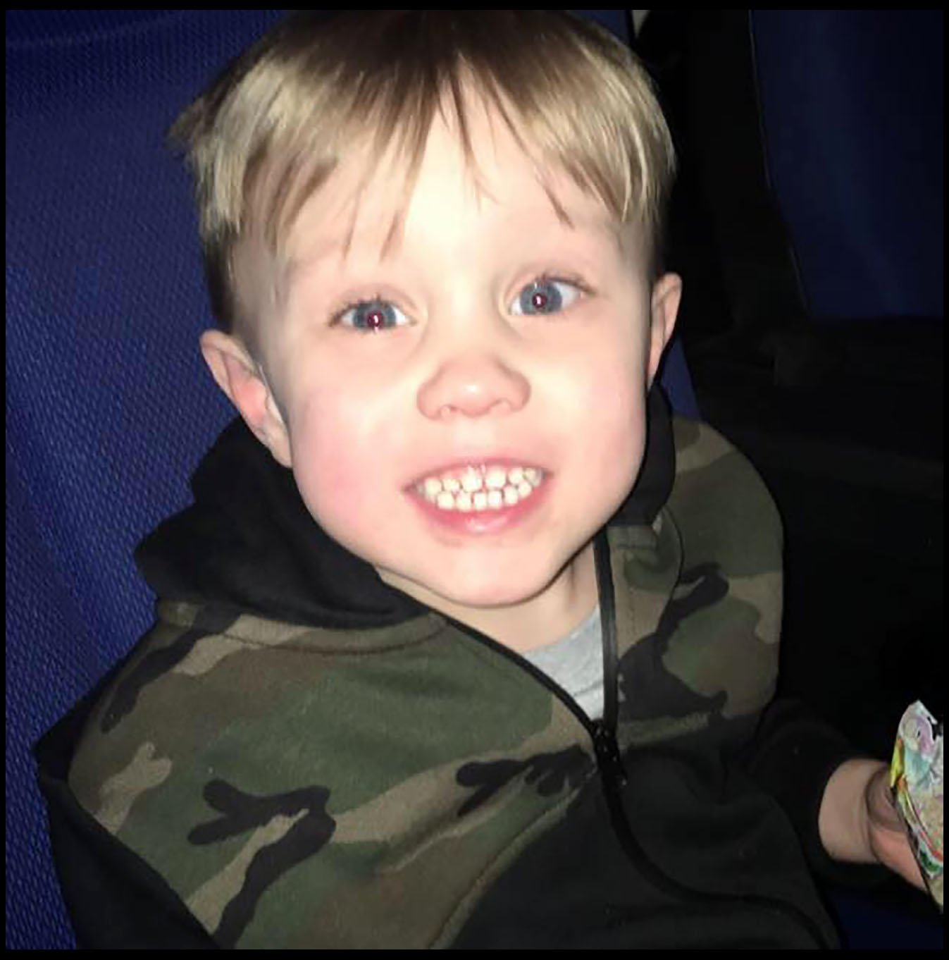 Little Jaiden died later in hospital due to head injuries suffered in the accident (Picture: PhilYeomans/BNPS)