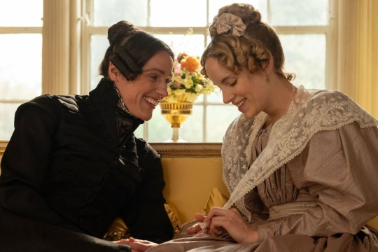 WARNING: Embargoed for publication until 00:00:01 on 21/05/2018 - Programme Name: Gentleman Jack - TX: n/a - Episode: Gentleman Jack - First look (No. n/a) - Picture Shows: Anne Lister (SURANNE JONES), Ann Walker (SOPHIE RUNDLE) - (C) Lookout Point - Photographer: Matt Squire