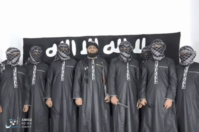 Isis release image of Sri Lanker bombing attackers and their leader Zahran Hashim