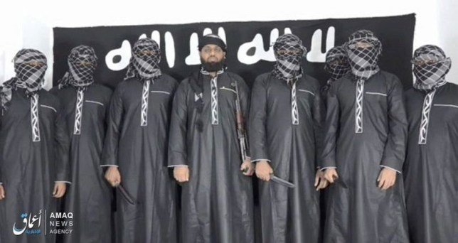 Isis release image of Sri Lanka bombing attackers and their leader Zahran Hashim