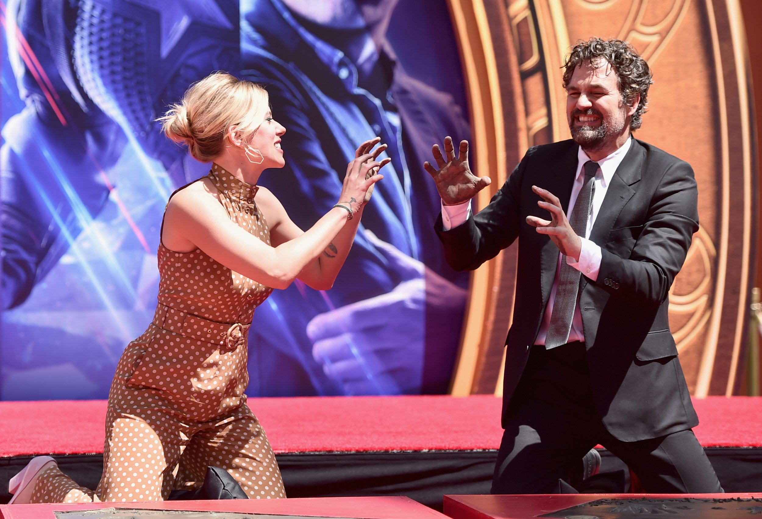 Avengers: Endgame stars are immortalised at Hollywood hand and footprint ceremony