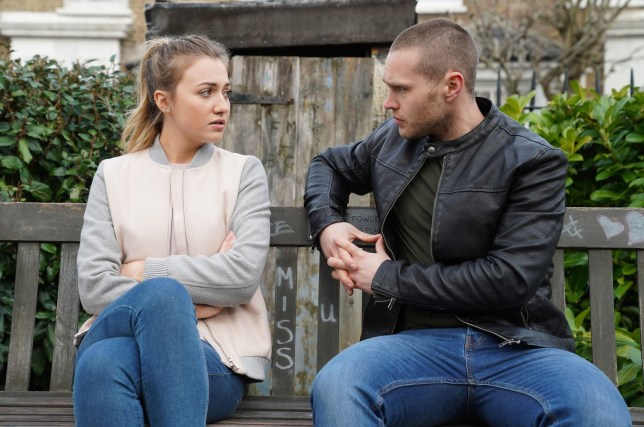 Louise (Tilly Keeper) makes a discovery in EastEnders