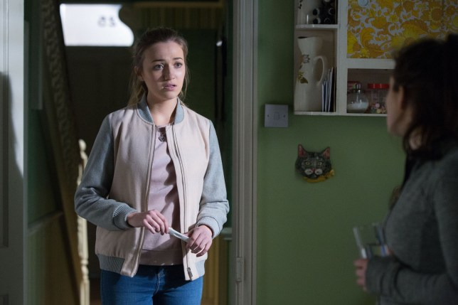 Louise Mitchell (Tilly Keeper) gets a huge pregnancy shock