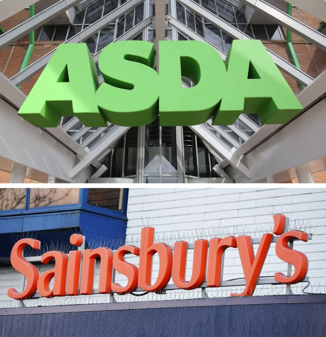 Undated file photos of an ASDA and a Sainsbury's sign. The Competition and Markets Authority has blocked Sainsbury?s ?12 billion merger with Asda on the grounds that it would result in higher prices for consumers. PRESS ASSOCIATION Photo. Issue date: Thursday April 25, 2019. See PA story CITY Sainsburys. Photo credit should read: PA/PA Wire