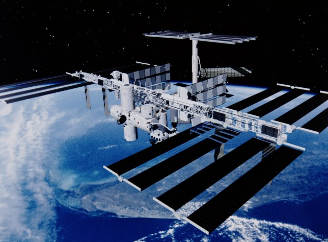 circa 1998: An artist's impression of the completed International Space Station. (Photo by NASA/Space Frontiers/Getty Images)