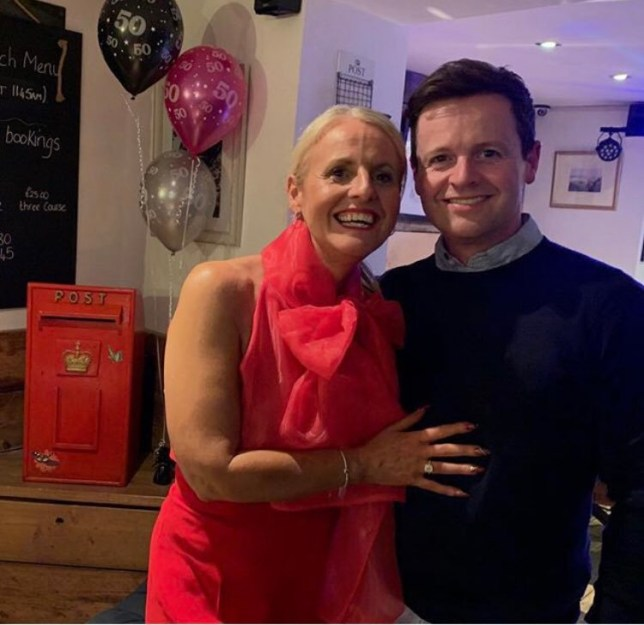 METRO GRAB - taken from the Twitter of @allantanddec no permission Dec celebrates his sister's bday No credit