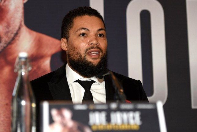 Mandatory Credit: Photo by Philip Sharkey/TGS Photo/REX (10218482c) Joe Joyce during a Press Conference at the Landmark Hotel on 25th April 2019 Frank Warren Queensberry Promotions Press Conference, Boxing, Landmark London Hotel, Marylebone, London, United Kingdom - 25 Apr 2019