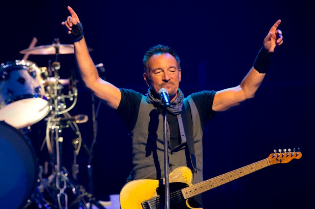 "(FILES) In this file photo taken on July 11, 2016, US musician Bruce Springsteen performs with The E Street Band at the AccorHotels Arena in Paris. - The Boss is back in town: Bruce Springsteen said on April 25, 2019 he will release his first new album in five years this June, promising a return to his signature ruminations on the American condition. Springsteen's 19th studio album ""Western Stars,"" set for release June 14, drew inspiration from southern California pop classics of the 1960s and 70s, the legendary artist from New Jersey said. (Photo by BERTRAND GUAY / AFP)BERTRAND GUAY/AFP/Getty Images"