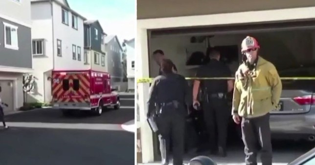 'Hero' four-year-old girl kept her two-month-old baby brother alive for three days as their parents lay dead nearby after their father 'shot their mother then turned the gun on himself' The two young children were found dehydrated and hungry but unharmed by a neighbor at the family's home in the Chatsworth, California, on April 14