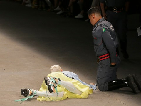 Model dies after collapsing on runway at fashion week in Brazil