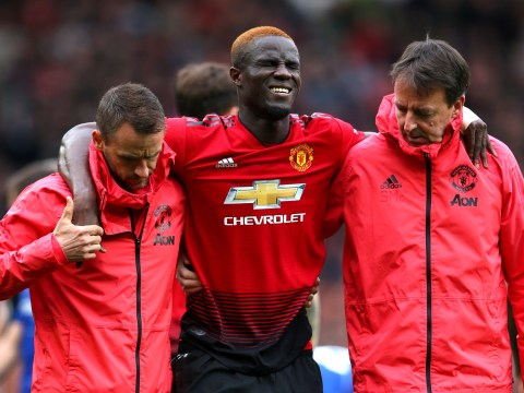 Eric Bailly in tears in Manchester United dressing room after suffering injury against Chelsea