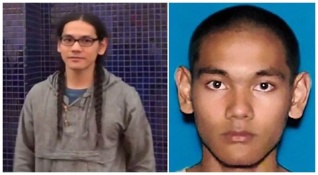 "These two handout photographs obtained April 29, 2019 from the Federal Bureau of Investigation (FBI) show Mark Steven Domingo, 26, a US Army veteran who was allegedly plotting a large-scale terror attack near Los Angeles as revenge for the recent mass shootings in Christchurch, New Zealand, has been arrested, authorities said Monday, April 29, 2019. - Mark Steven Domingo, who had combat experience in Afghanistan and professed to be Muslim, faces federal terror-related charges for plotting to detonate an improvised explosive device (IED) at a white nationalist rally in Long Beach this past weekend with the aim of causing mass casualties, officials said. (Photo by Handout / FBI / AFP) / == RESTRICTED TO EDITORIAL USE / MANDATORY CREDIT: ""AFP PHOTO / FBI "" / NO MARKETING / NO ADVERTISING CAMPAIGNS / DISTRIBUTED AS A SERVICE TO CLIENTS ==HANDOUT/AFP/Getty Images"