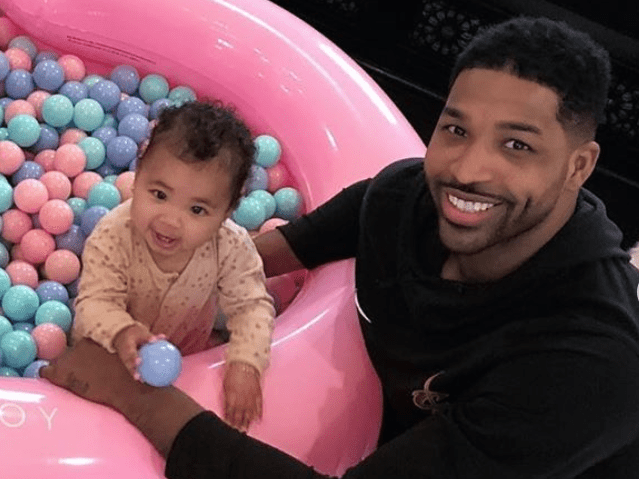 Tristan Thompson coos over 'perfect' baby girl True on her first birthday with cute father/daughter snaps
