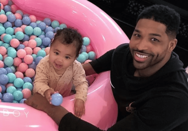 Tristan Thompson Coos Over Perfect Baby Girl True On Her First Birthday With Cute Father Daughter Snaps