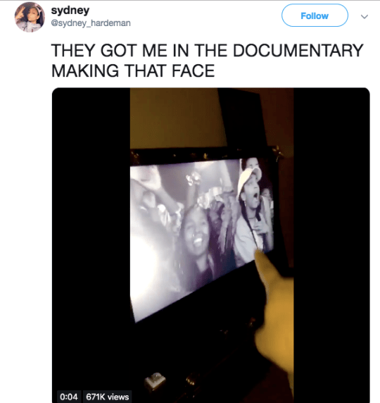 The stunned Beyonce superfan in the Homecoming film has been