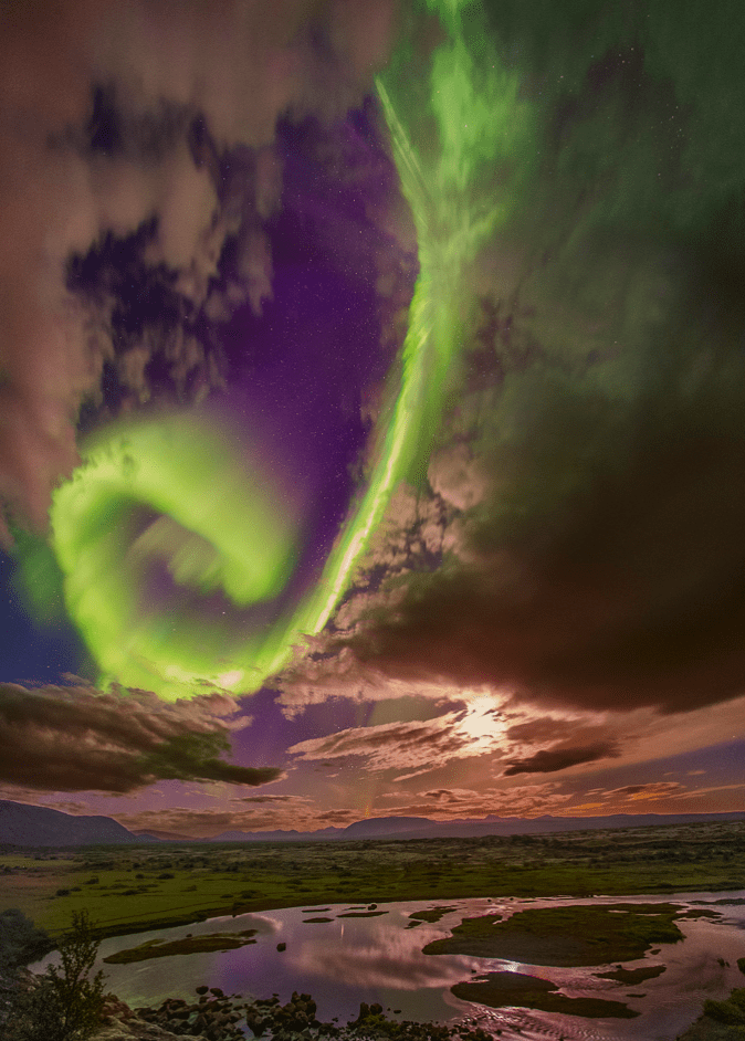 Nasa photographs stunning 'beauty and the beast' aurora that's a warning to humanity