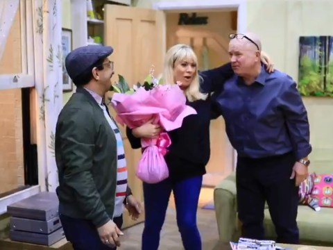 EastEnders star Letitia Dean surprised on set as producers mark her 2000th episode as Sharon Mitchell