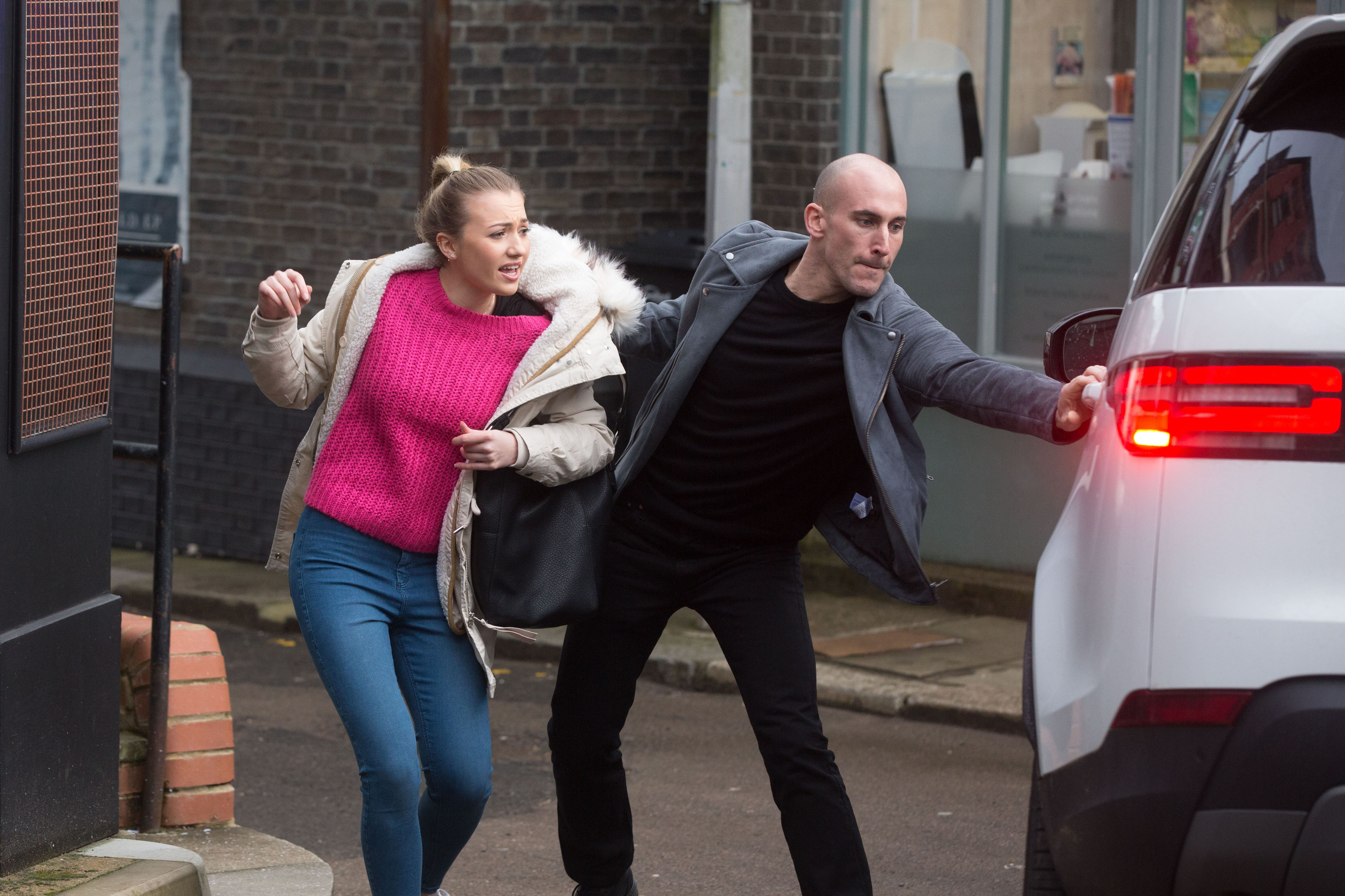 Louise Mitchell (Tilly Keeper) is brutally kidnapped by Midge (Tom Colley)